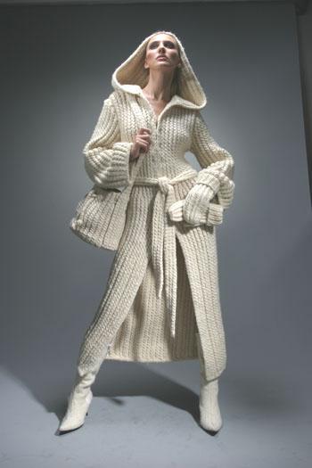 Вязаные пальто фото ::